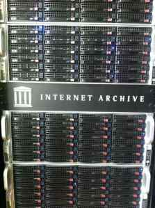 Internet Archive server rack